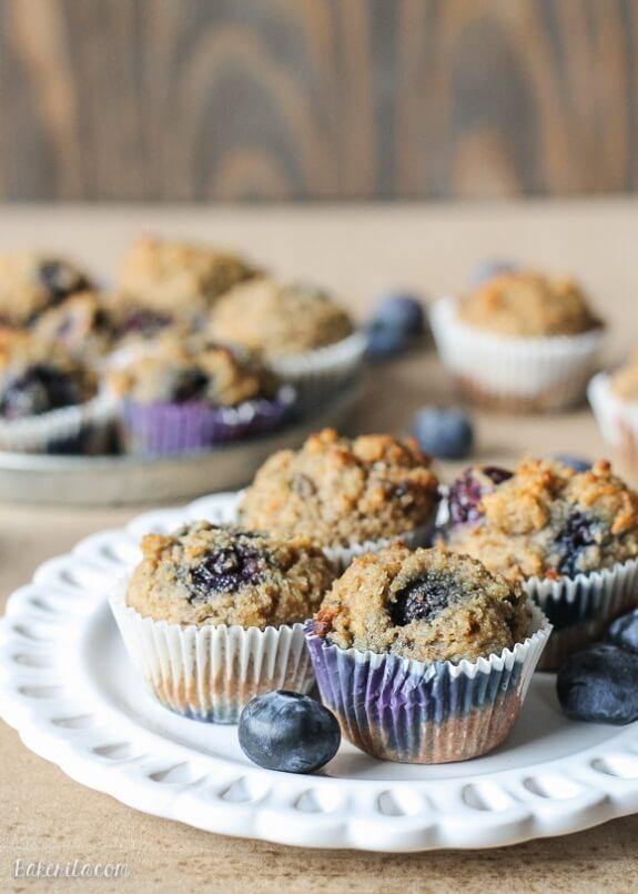 Paleo Banana Blueberry Muffins | Bakerita