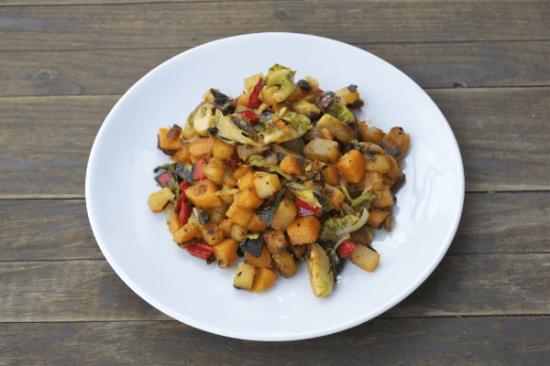 Rutabaga Sweet Potato Hash | A Dash of Megnut