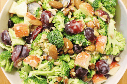 Fruit and Nut Broccoli Salad | Crafty Coin
