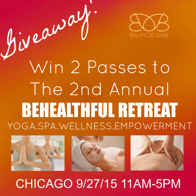Win a pair of tickets to the 2nd annual BeHealthful Retreat in Chicago! Enter @ personallypaleo.com