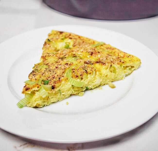 Low Carb Brussels Sprouts + Leek Frittata
