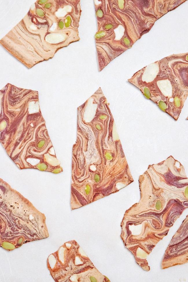 Swirled Almond Butter + Chocolate Bark | Personally Paleo