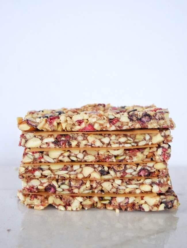 Mixed Berry Paleo Granola Bars (Refined Sugar Free) | Personally Paleo