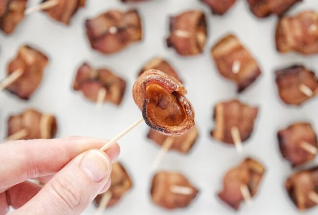 Soy Free Bacon Wrapped Water Chestnuts