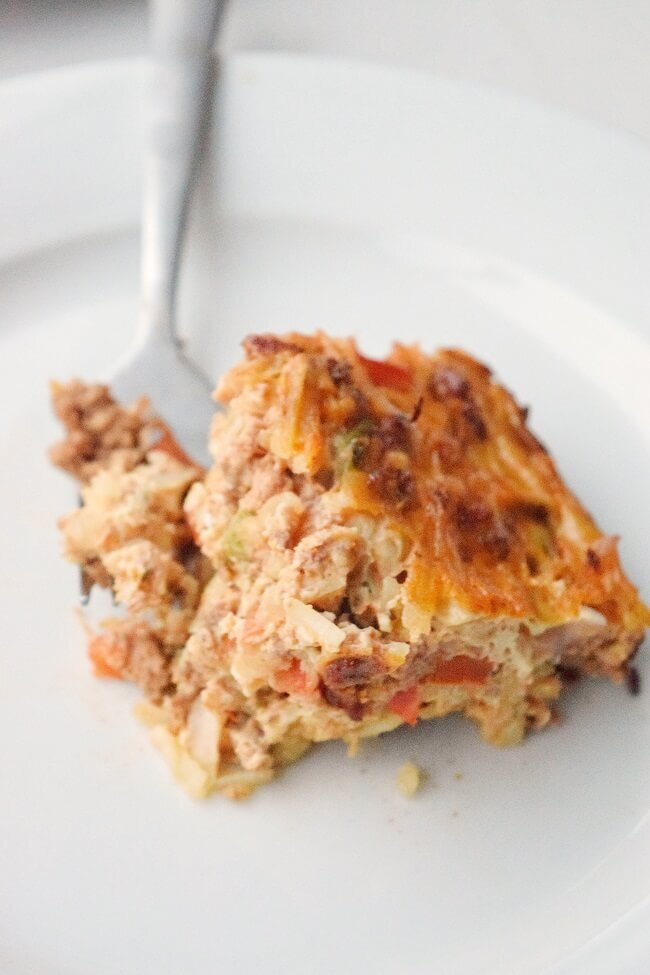 Dairy Free Taco Casserole | Cleanish Living Katie