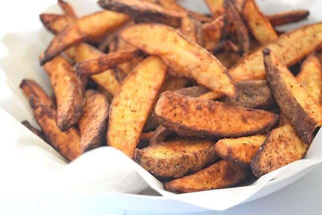 Crispy Cajun Potato Wedges (Whole30, Vegan) | Cleanish Living Katie