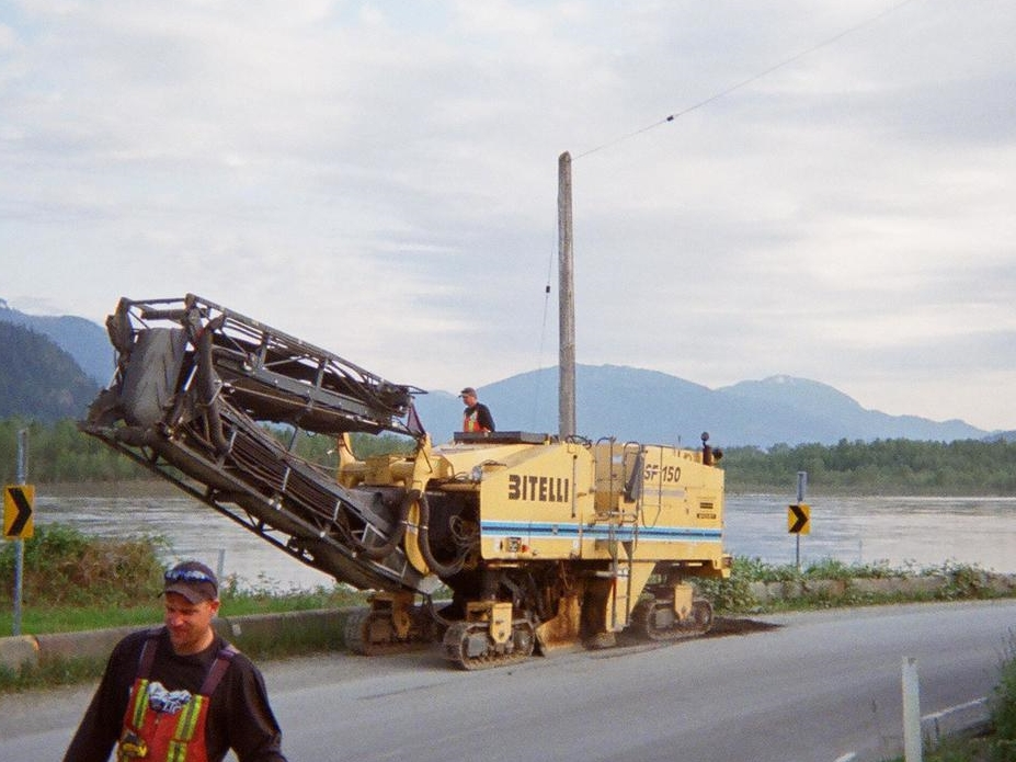 SF150 with it's conveyor folded.