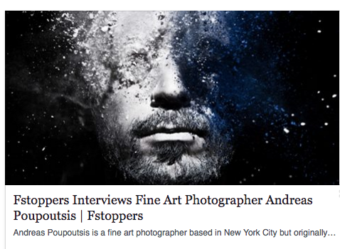 Interview for Fstoppers.    Click here    to see more from this article