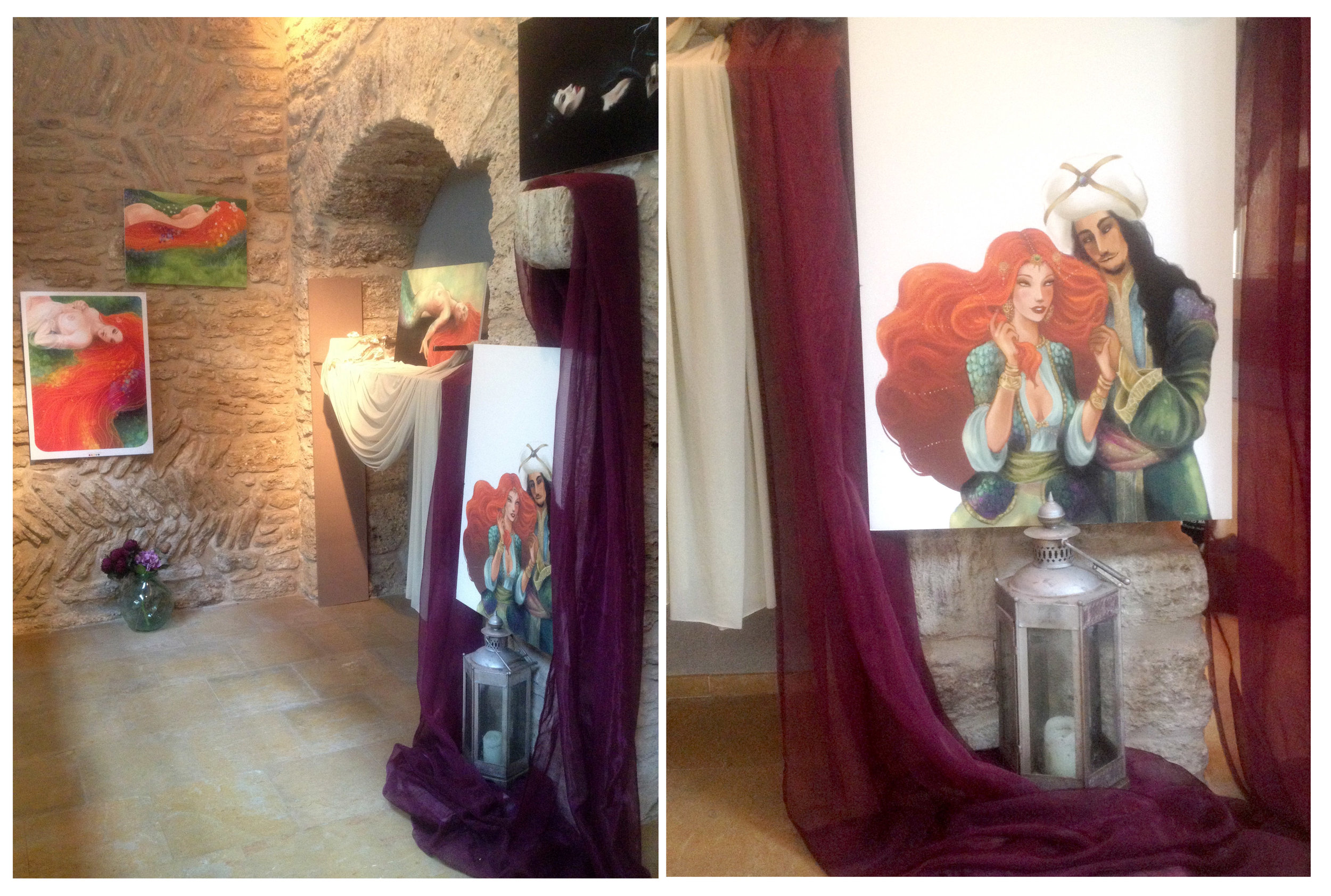 Una part de la meva petita expo a l'Aloja de Banyoles!