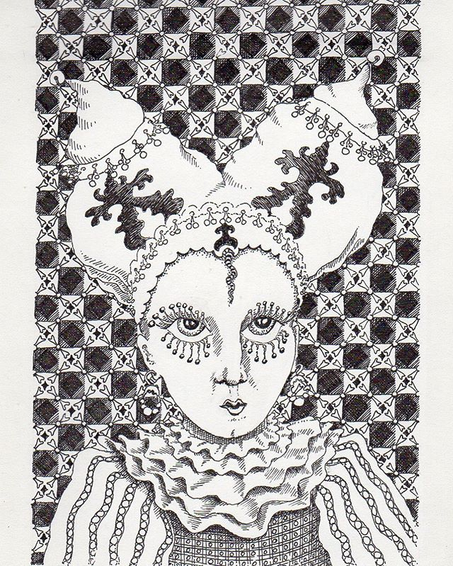 Lady with big eye-lashes #drawing #illustration #dibujo #tekening #pendrawing #blackandwhitedrawing #instadraw #fantasy #eyes #eyelashes #eyelashesextension #funnydrawing #ilustracion