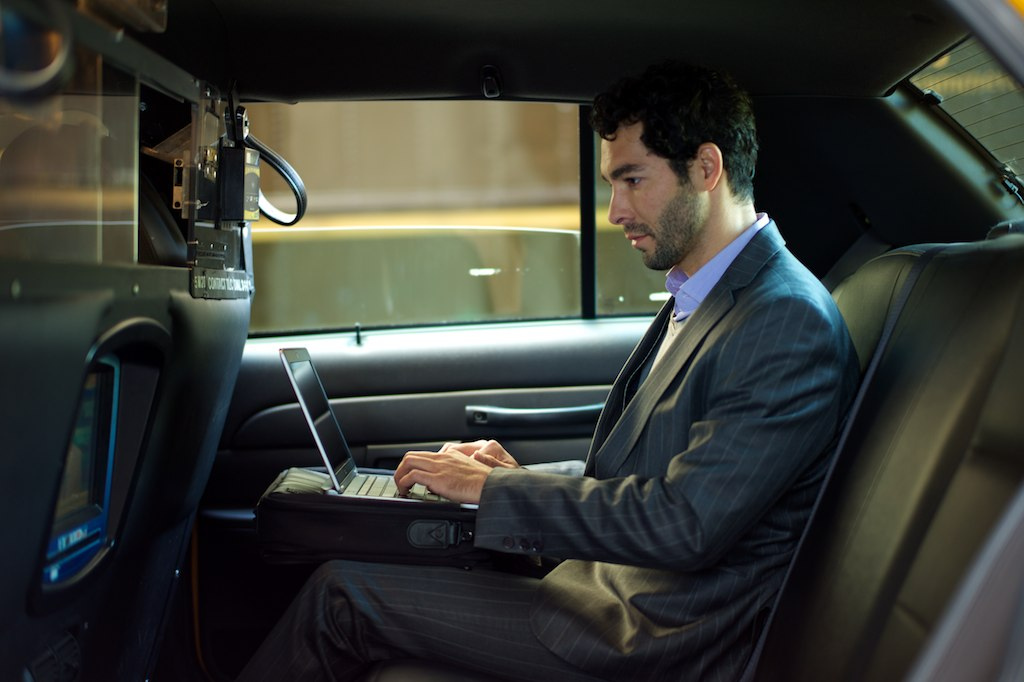 An actor, pretending like he's a businessman, NYC