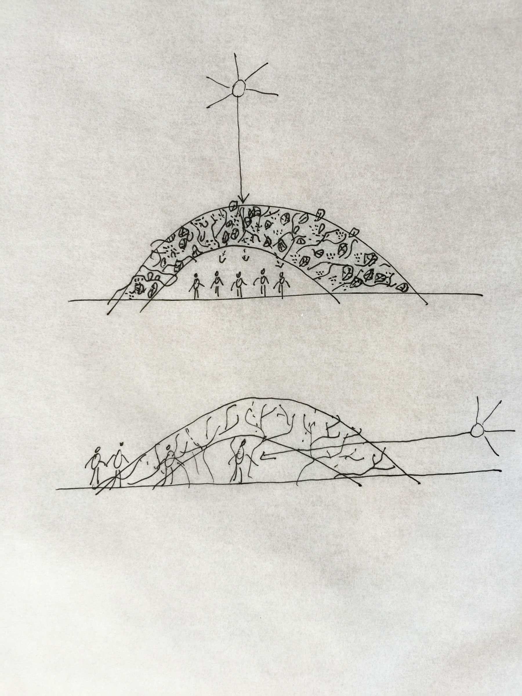 Copy of First structure: a seasonal portal to a feeling.