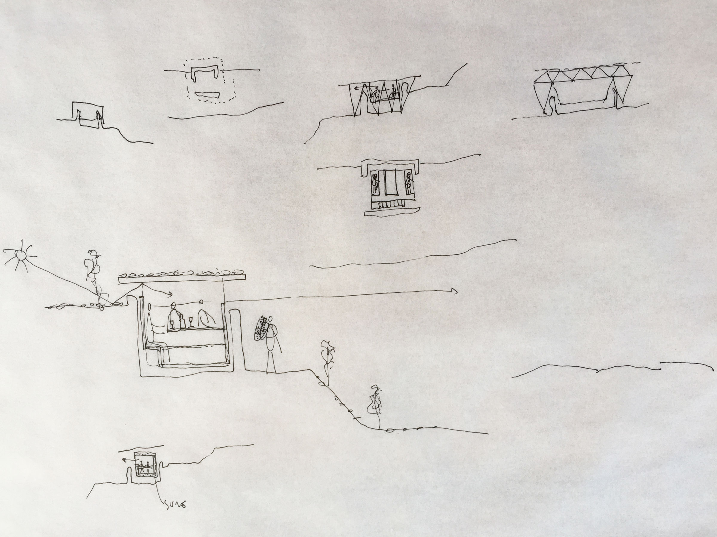 Copy of Third structure: a winter retreat on a limestone ruin.