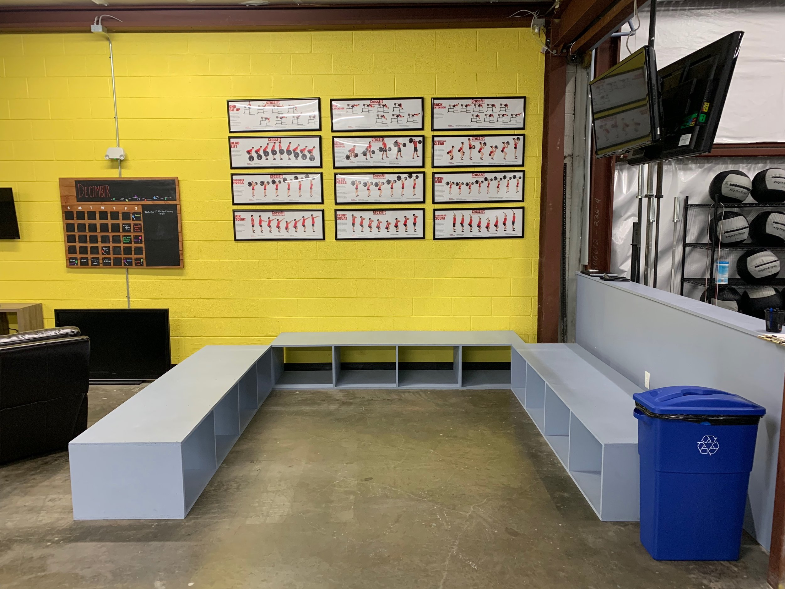 Athlete Storage Benches