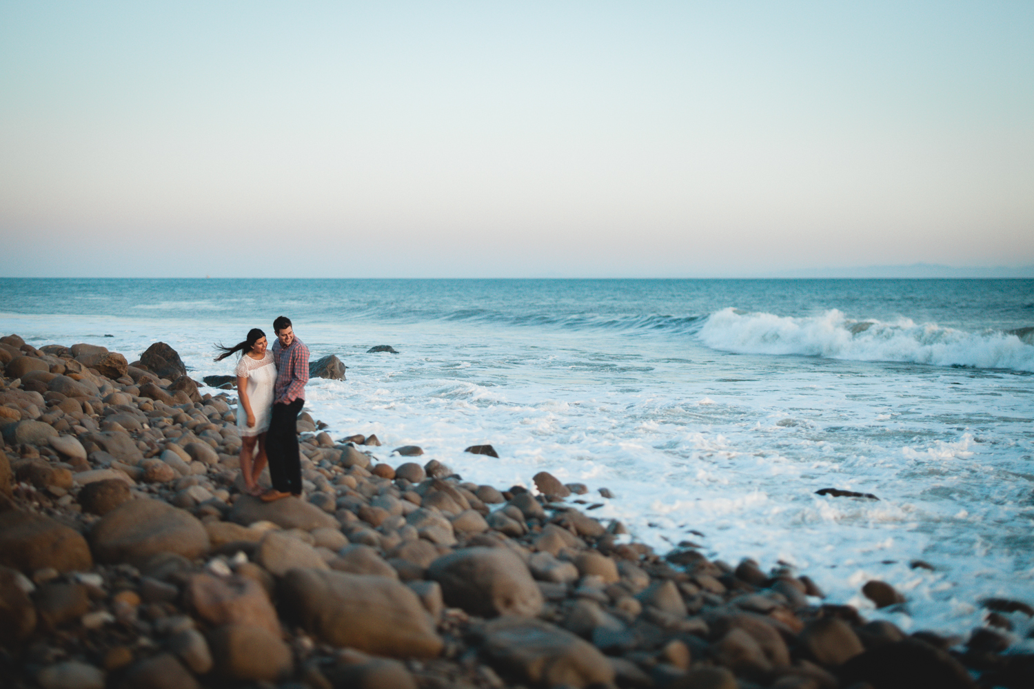 santa barbara el capital beach engagement photography