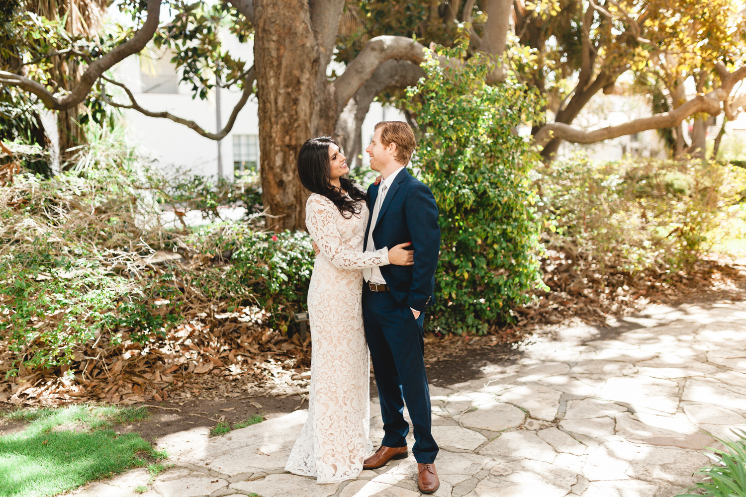 santa barbara wedding photographer bride and groom moment
