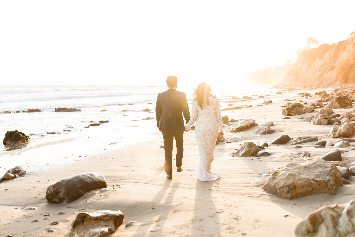 santa barbara wedding photographer beach portraits