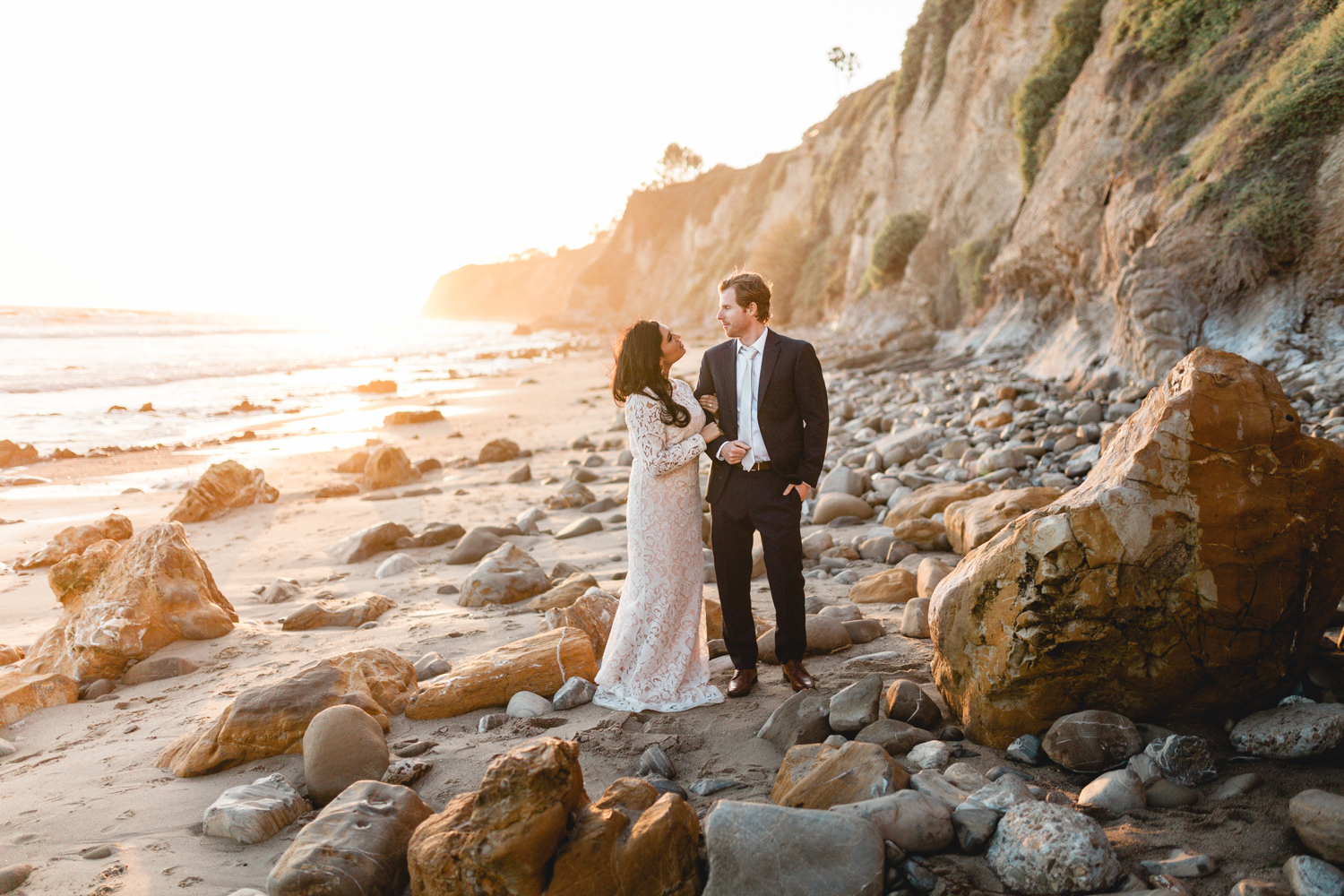 santa barbara wedding photographers beach portraits