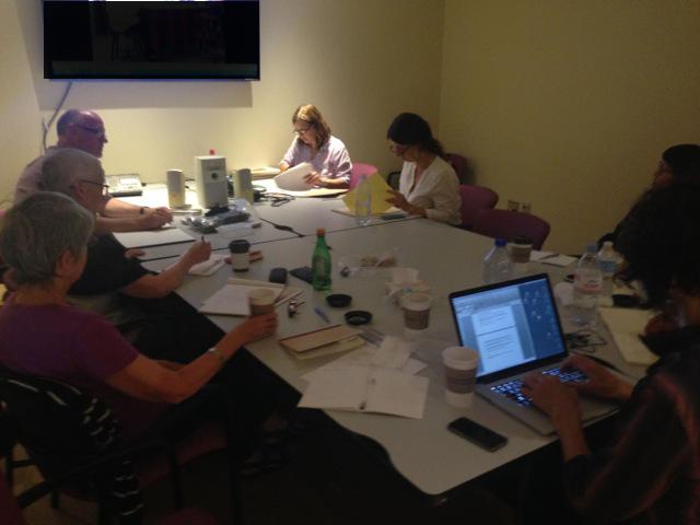 Team members of Hybrid Bodies II in the meeting room.
