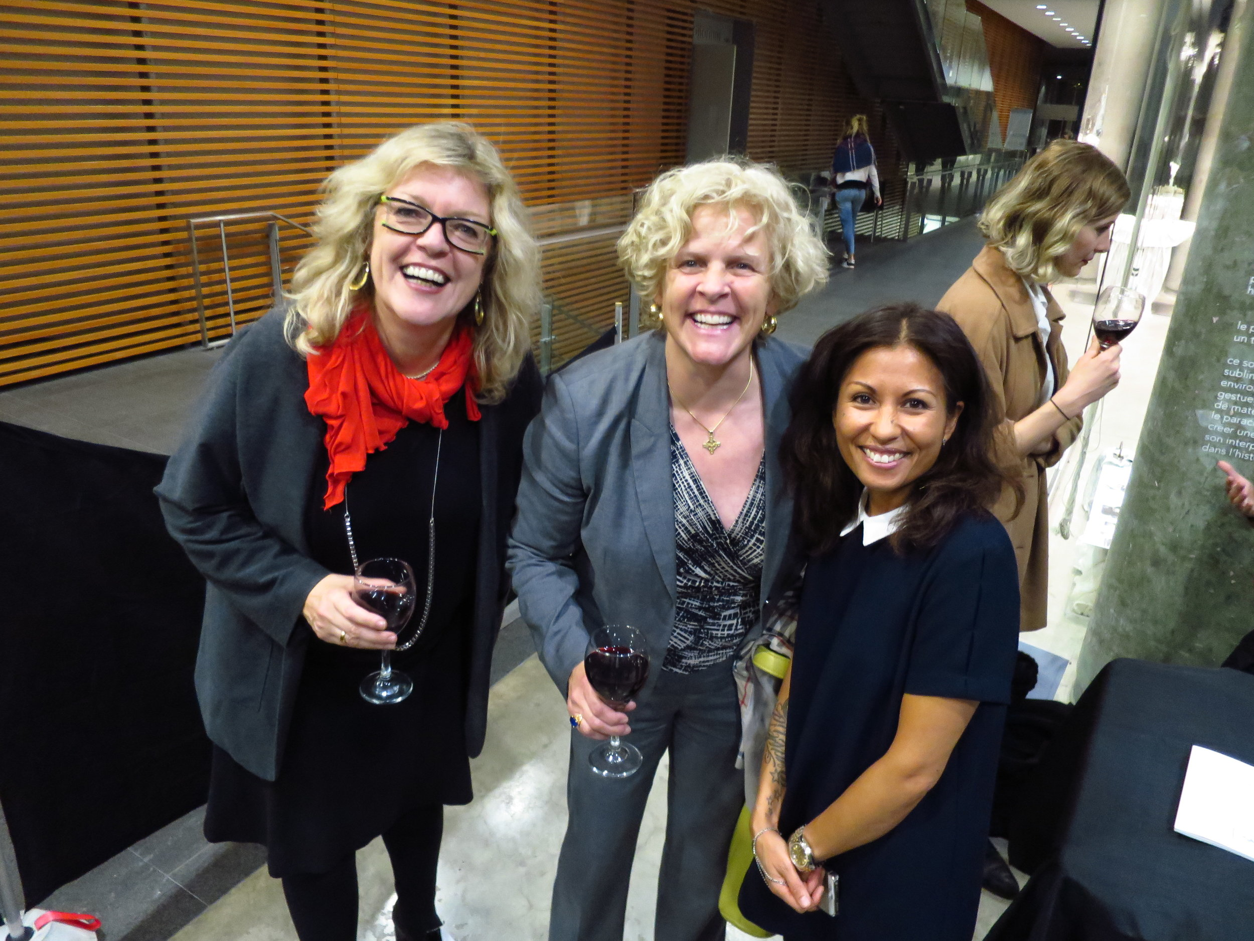 Ingrid Bacgmann, artist/principal investigator Hybrid Bodies, Heather Ross, Chief of Cardiology, Munk Cardiac Centre, UHN, Toronto, and Cheryl Sim   , Curator, DHC/ART Foundation for Contemporary Art, Montreal