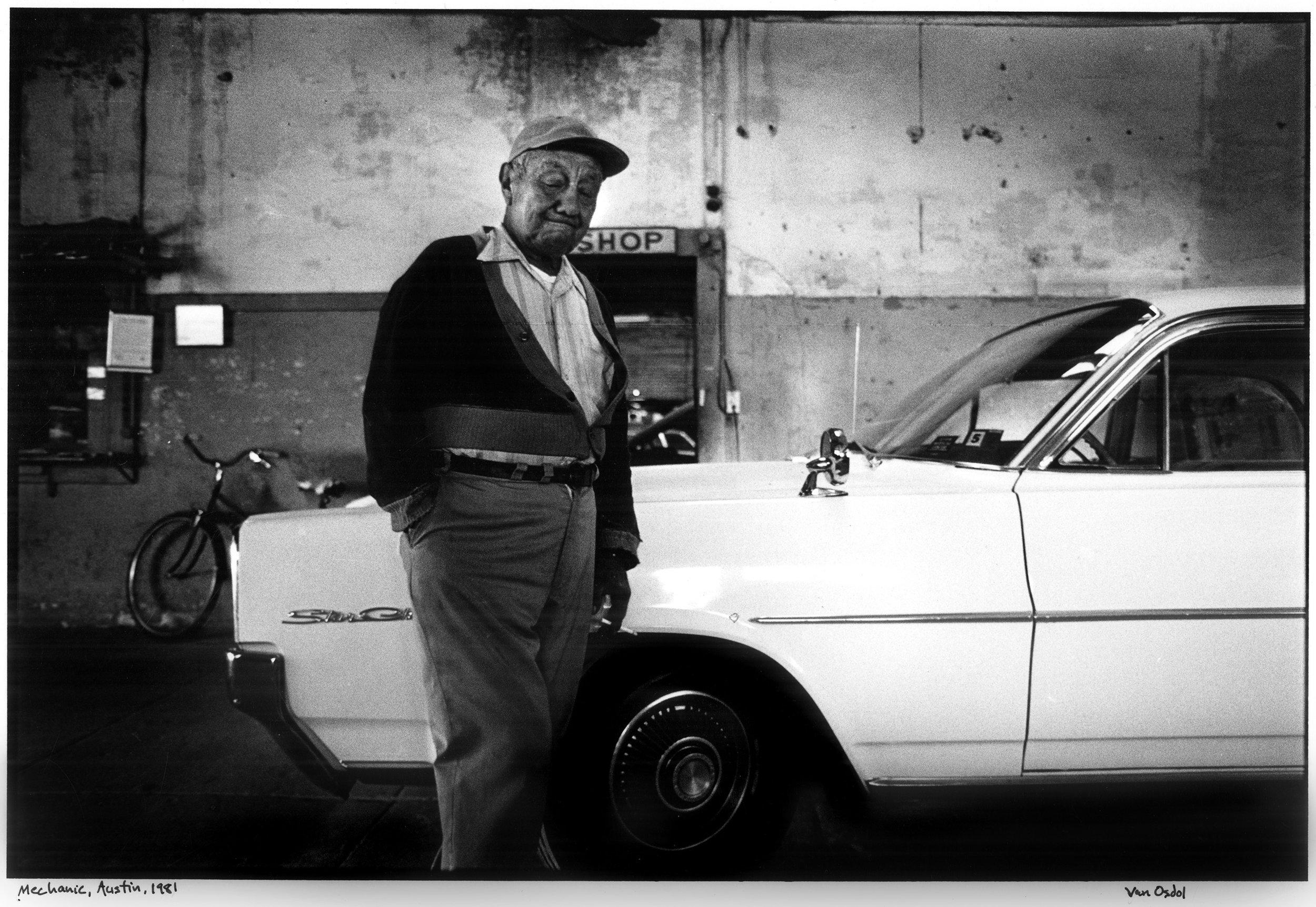 Mechanic, 6th & Trinity, Austin, 1981