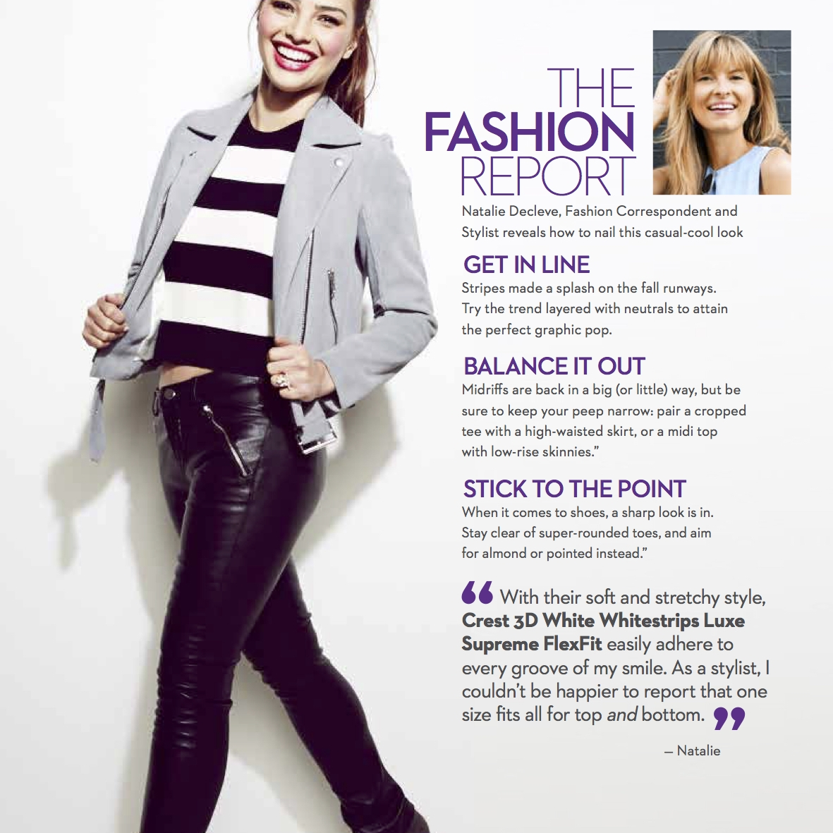 MARIE CLAIRE  The Fashion Report: Natalie Decleve reveals how to get this casual-cool look