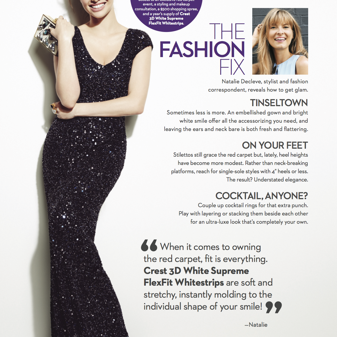 MARIE CLAIRE  The Fashion Fix: Natalie Decleve reveals how to get glam