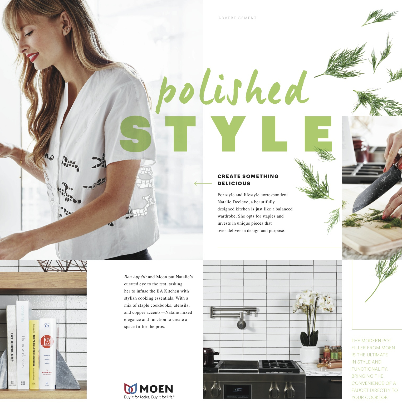 BON APPETIT  Would you wear your home on your sleeve? Bringing fashion into the kitchen.