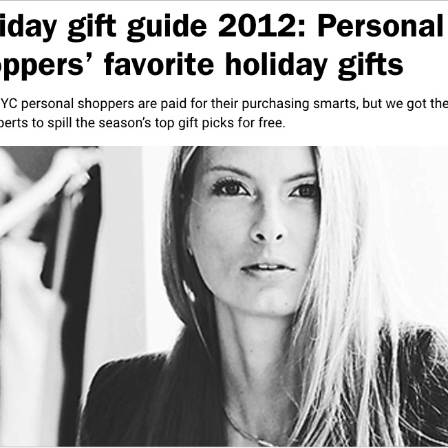 TIME OUT NEW YORK  Personal Shoppers' Favorite Holiday Gifts