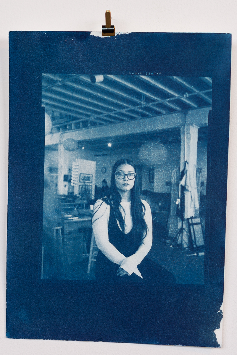 Cyanotype made from large format negative