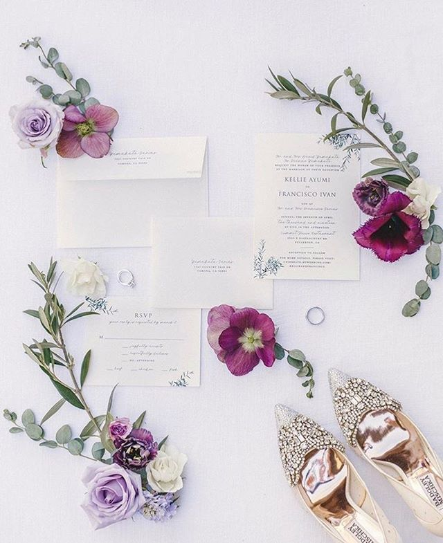 Invitation flat-lay favorites with @cydweeksphotography