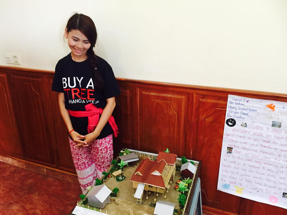 Sopheal showing her project.jpg