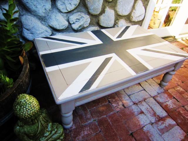 Grey Union Jack Coffee Table