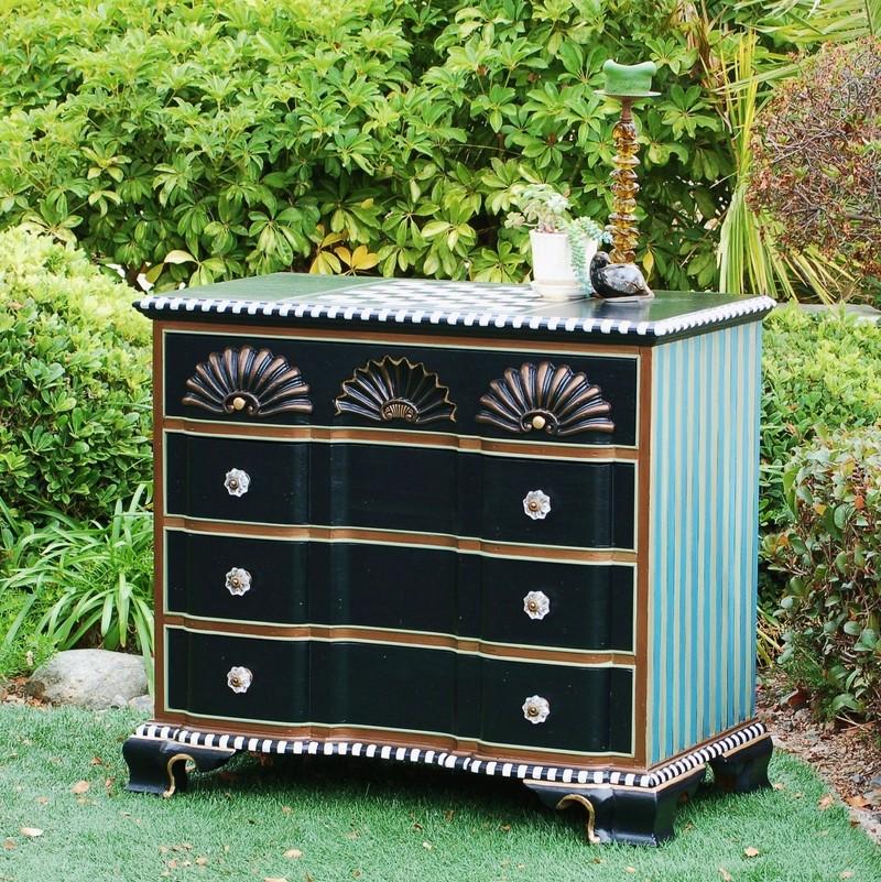 Mackenzie-Childs Inspired Checkerboard Dresser