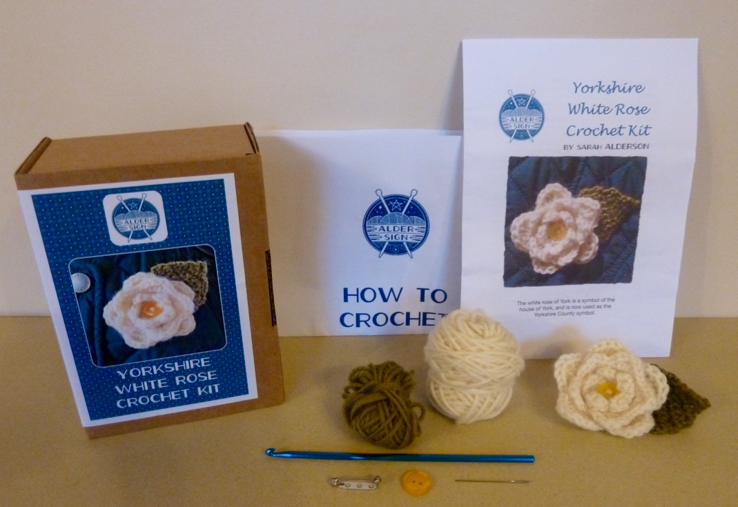 Yorkshire White Rose Crochet kit