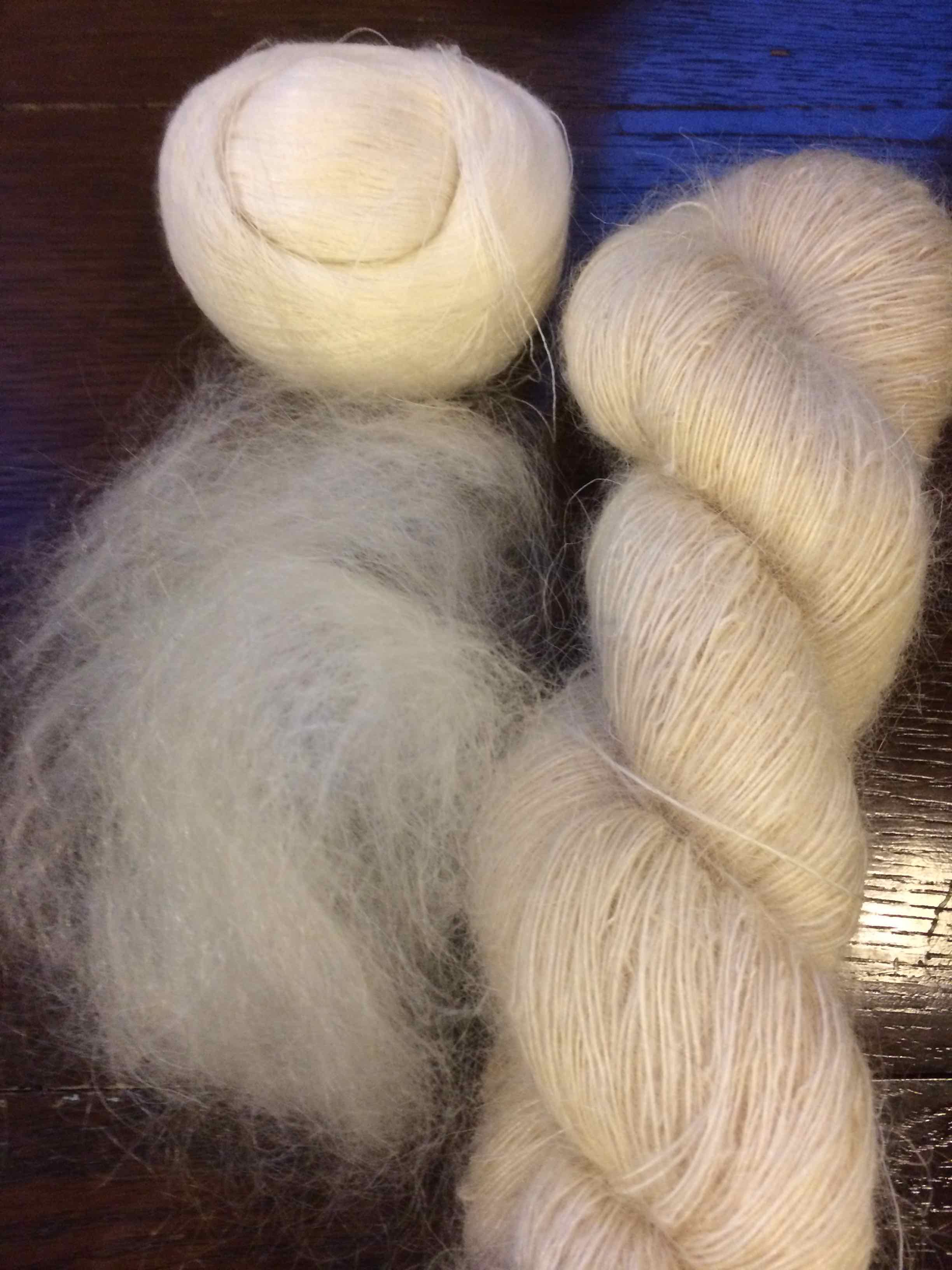 Orenburg fibre and yarn