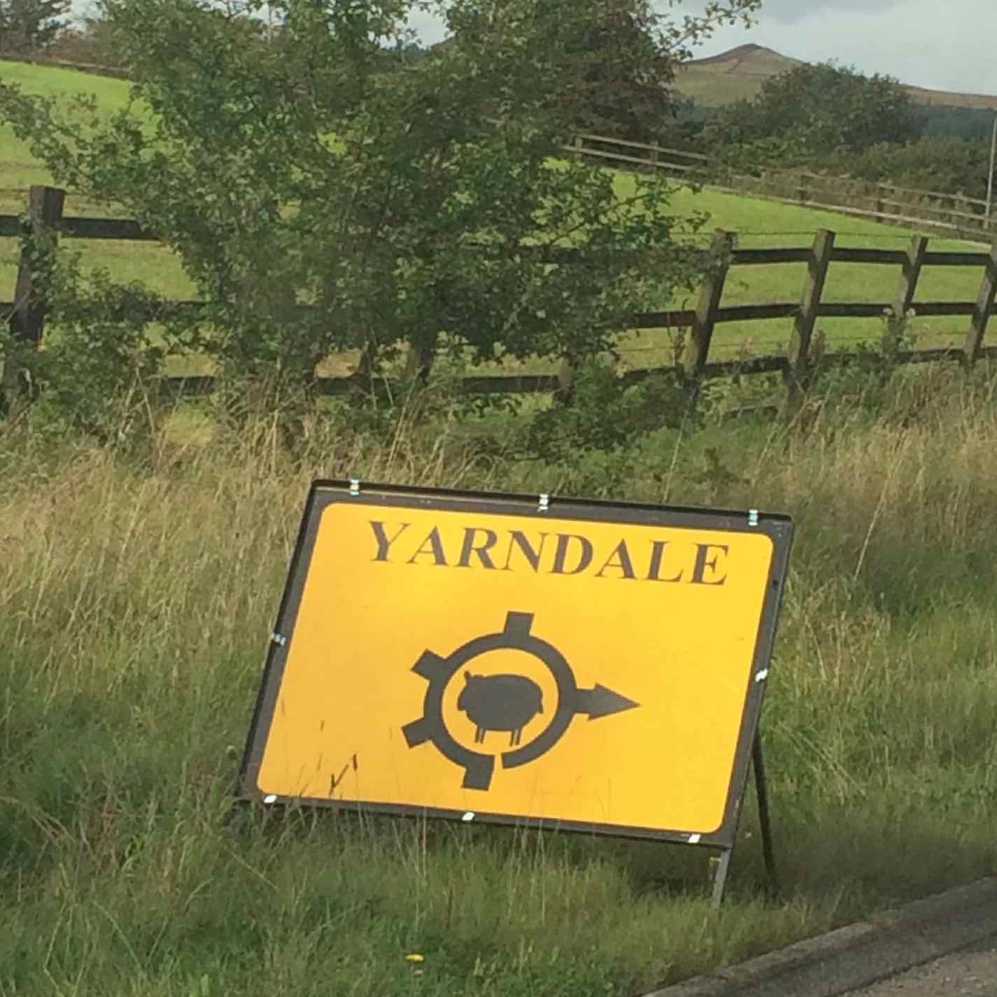 The Yarndale sheep sign
