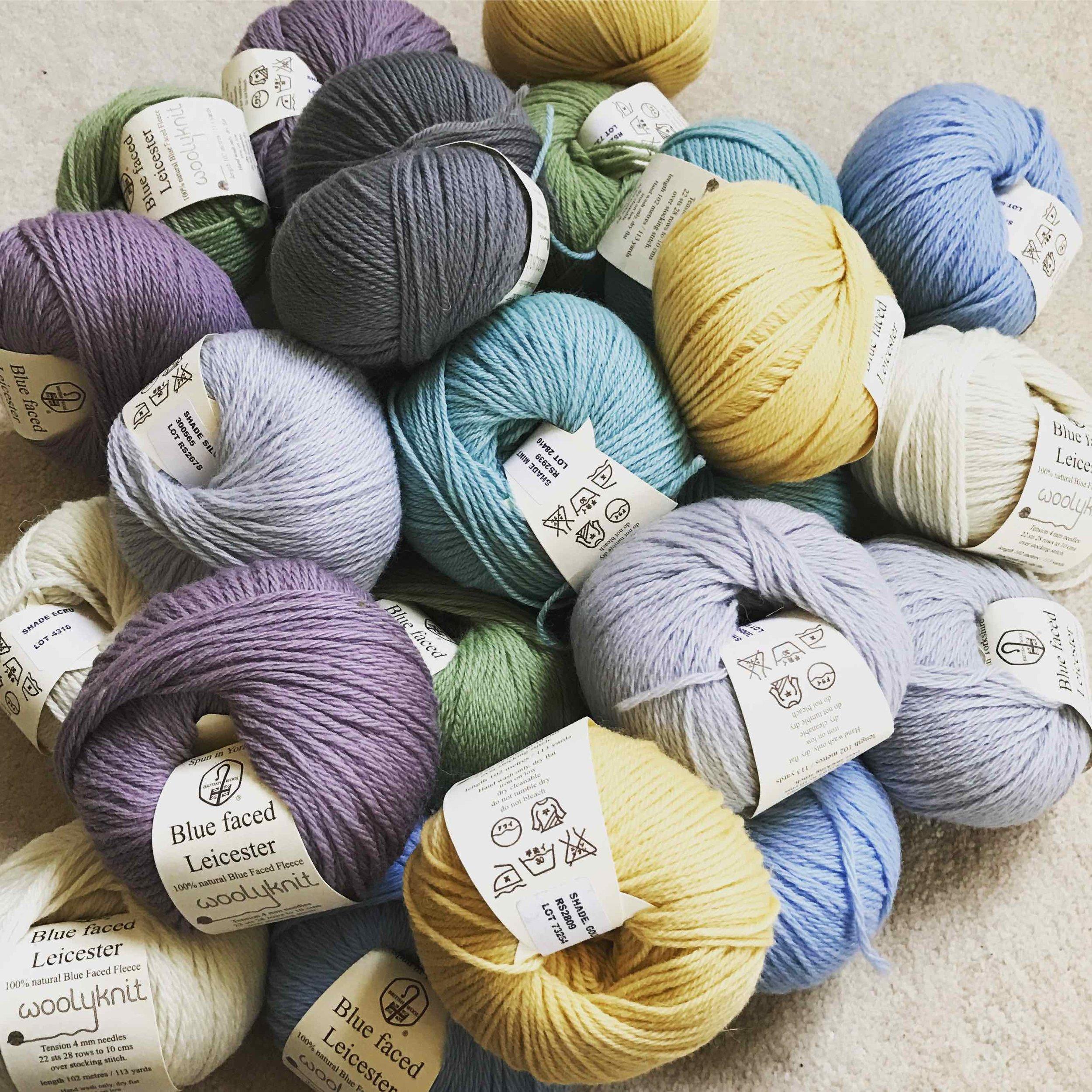 My yarn binge for a crochet blanket