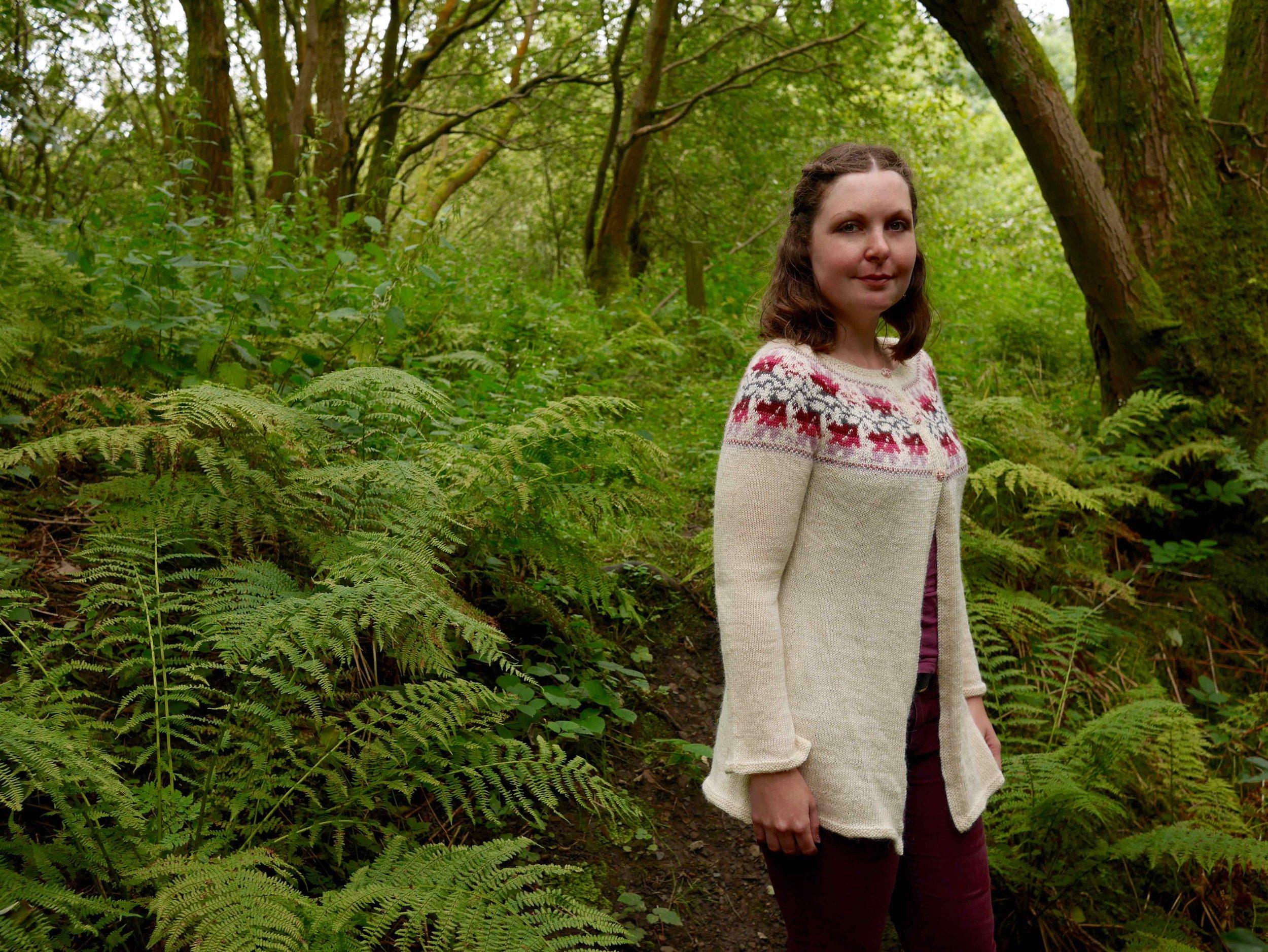 Weirwood pattern knitted in baa ram ewe Titus yarn