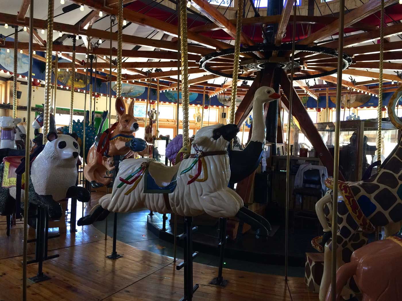 Art therapy in action!! The above photo is the life work of a veteran who hand carved,painted, and restored these carousel animals in Nederland, Colorado. You can read about this amazing story  here .