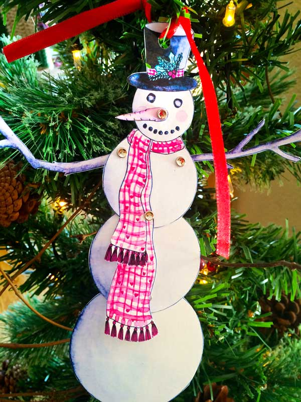Punch a hole in the top, tie a ribbon in the hole and use it as an ornament.