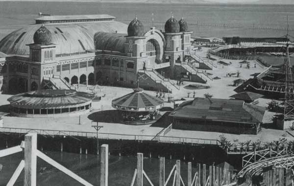 Here is the view of the carousel at Saltair Park. This is the view from the roller coater and you can see the carousel right in the center of the picture.  Eventually, a storm blew this very roller coaster down onto the carousel turning it from a 4 row into a two row carousel, which it still is today!  If this were a literary novel, you would think the author purposely made the Carousel a metaphor for Scott's own life. Surviving storms and fires and restored into something whole and beautiful! Real life is way more interesting than fiction!  (Photo courtesy of the Utah State Archives and the Carousel of Happiness).