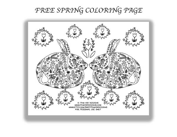 Click  HERE  to get your free spring coloring page!