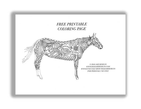 Click  HERE  for your free horse coloring page.