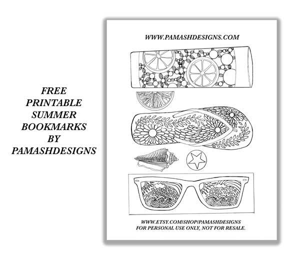 Free Printable Bookmarks Pam Ash Designs