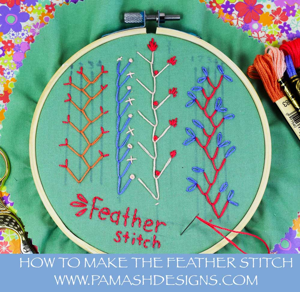 Here is an example of the feather stitch.