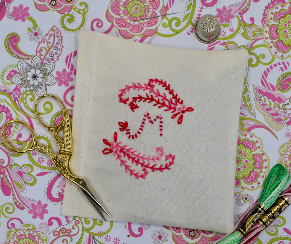 I used this little piece of embroidery to make a little square lavender sachet. There is a detailed tutorial   HERE  if you would like to make one for Mom or just to treat yourself!