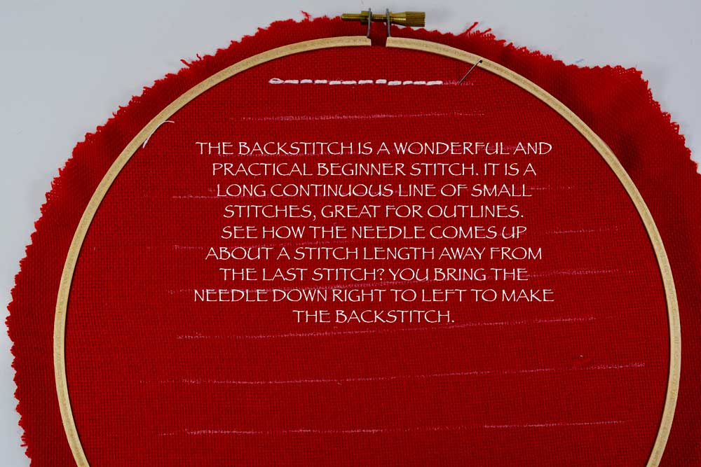 Click  HERE  for a more detailed BACKSTITCH tutorial.