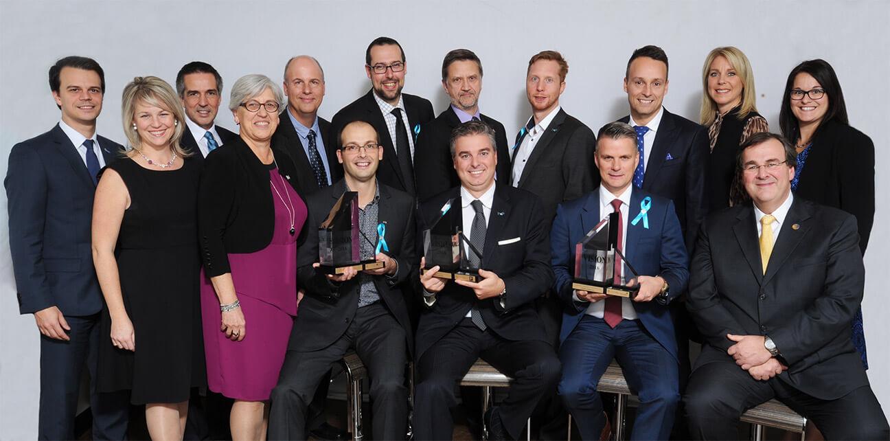 Les lauréats des Trophées Vision 2016:LGT, H2O Innovation et Chrono Aviation
