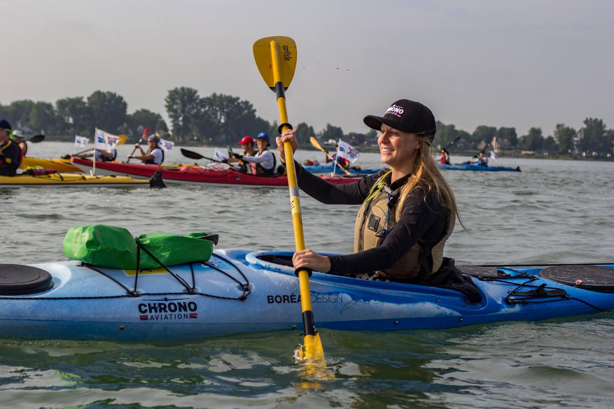 Cassie Lefebvre durant le Défi Kayak Desgagnés